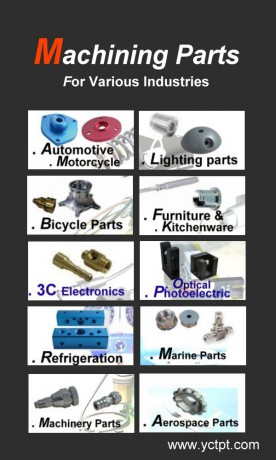 machining parts for various industries